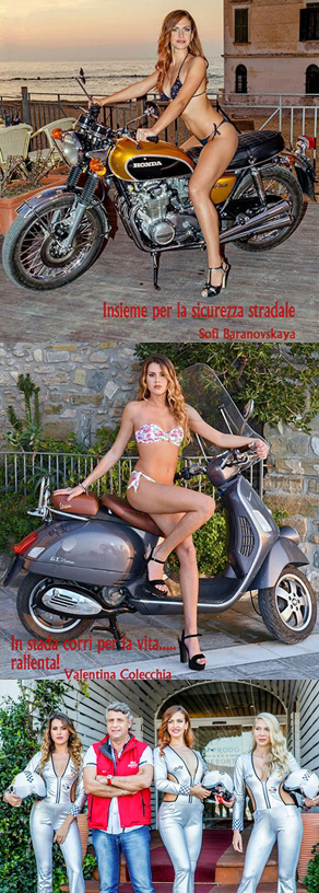 Calendario Miss Motor per la sicurezza stradale